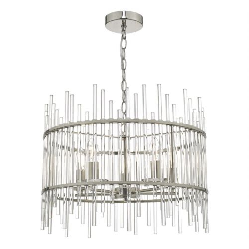 Olyn 5lt Pendant Polished Nickel & Glass (double insulated) BXOLY0538-17
